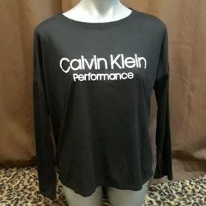 Calvin Klein long sleeve performance t-shirt Black